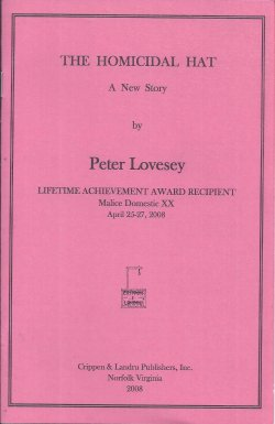 LOVESEY, PETER - The Homicidal Hat; the Malice Domestic Chapbook XX