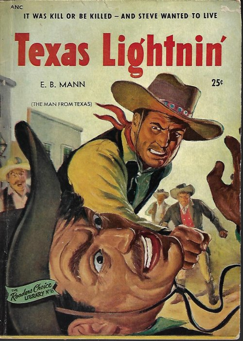 Image for TEXAS LIGHTNIN' (orig. THE MAN FROM TEXAS): Reader's Choice Library No. 6