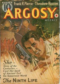 ARGOSY (JACK MANN - AKA E. CHARLES VIVIAN; FRANK RICHARDSON PIERCE; ROBERT W. COCHRAN; THEODORE ROSCOE; E. HOFFMANN PRICE; W. A. WINDAS; CHARLES RICE MCDOWELL; RICHARD SALE; CHARLES DORMAN) - Argosy: August, Aug. 5, 1939 (