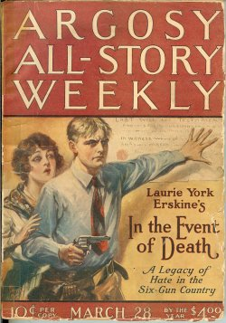 ARGOSY ALL STORY Weekly March, Mar 28, 1925 Radi