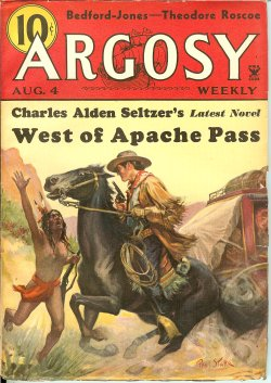 "Image for ARGOSY Weekly: August, Aug. 4, 1934 (""West of Apache Pass""; ""Flood"")"