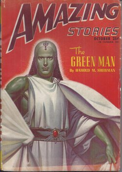 AMAZING Stories October, Oct 1946 The Green Man