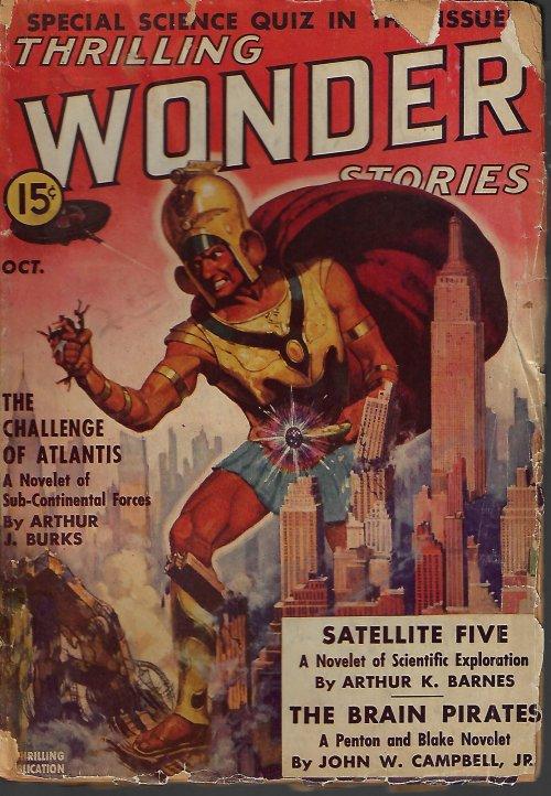 THRILLING WONDER Stories: October, Oct. 1938